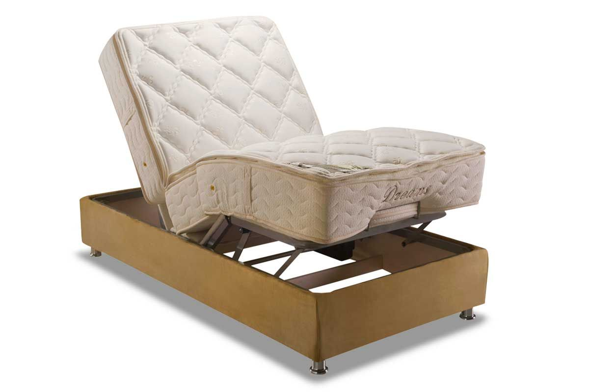 Conjunto Box: Colchão Herval Molas Pocket Ajustable Com Massagem MH 1430 + Cama Regulável